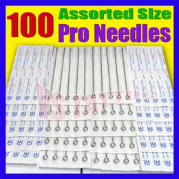 Wholesale Disposable Liners - Solong Tattoo Lots 100Pcs Disposable Sterile Tattoo Needles for tattoo Assorted Shader and Liner Mixed Size TN-100