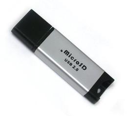 Wholesale Fedex T - USB 2.0 Micro SD SDHC card reader, TF T-Flash MicroSD card reader DHL FEDEX free shipping