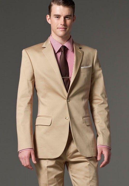 2017 Suits Designer Men Suit Custom Made Suits Khaki Suits Men In ...