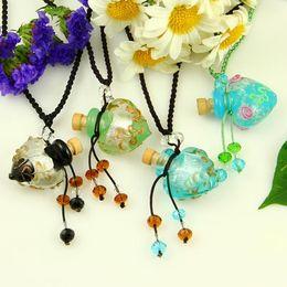 Coeur pendentifs en verre de murano petit pendentif bouteille de souhait colliers vrac colliers pour cendres bouteille de parfum vintage ? partir de fabricateur