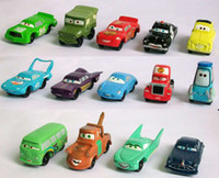 "Wholesale Pixar Cars 14pcs - CUTE Pixar Lightning McQueen Figures 2"" pvc figure (14PCS set )"