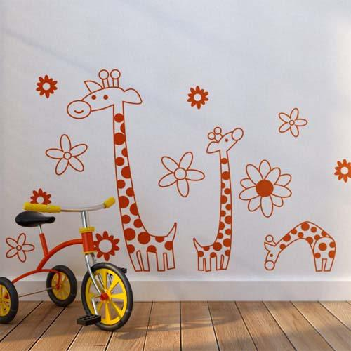 Wholesale Removable Giraffes Wall Stickers Kids Room Wall Decor - Stickers for kids room