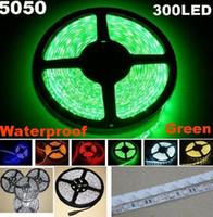 ingrosso illuminazione della striscia principale 25m-25m 5050 SMD Verde flessibile LED Strip Light 5m 300LED Impermeabile striscia led 60led / m (senza alimentatore)