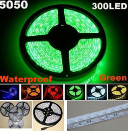 Wholesale 25m Led Strips - 25m 5050 SMD Green Flexible LED Strip Light 5m 300LED Waterproof led strip 60led m (no Power Supply)
