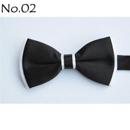 Gray Bowties Canada - men's bow tie BLACK tie bowties men's ties men's bow ties tie knots bowtie pure color men's tie
