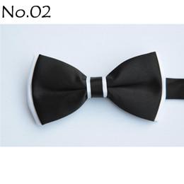 Wholesale Wholesale Women Bowties - men's bow tie BLACK tie bowties men's ties men's bow ties tie knots bowtie pure color men's tie