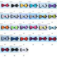 Wholesale Tie Knots Bow Men Black - men's bow tie satin bowties men's ties men's bow ties tie knots bowtie pure color men's tie