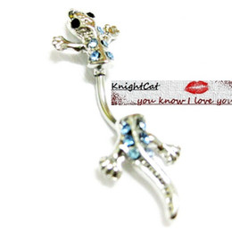 Wholesale Sexy Hot Belly - Belly Button Navel Ring piercing Body Jewelry Hot Sexy Love Lizard Cabrite Pendant Xmas Gift 10Pcs