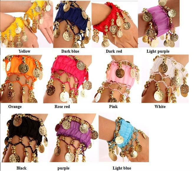 Belly Dance Anklet Costume Wrist Arm Ankle Cuff Coin Beautiful Bracelets Belly Dance Bracelets Belly Dance Accessory