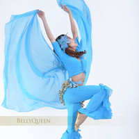 Wholesale Embroidered Scarf Chiffon - Chiffion Belly Dance Veil Head Scarf Wear
