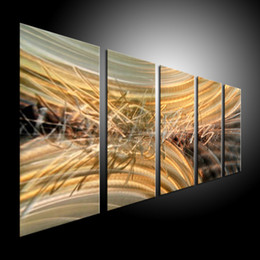 Arte moderna astratta di metallo online-Metal Wall Art Abstract Contemporary Sculpture Home Decor Moderna Enorme Esplosione 111037B