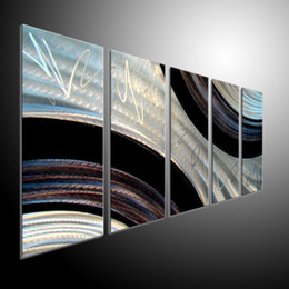 Arte moderna astratta di metallo online-Metal Wall Art Abstract Contemporary Sculpture Home Decor Modern Enorme Explosion 111037bB parete metallica