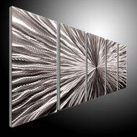 ingrosso arti contemporanee di metallo-Metal Wall Art Abstract Contemporary Sculpture Home Decor Modern Enorme Explosion 111060B parete metallica