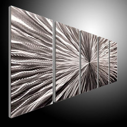$enCountryForm.capitalKeyWord Canada - Metal Wall Art Abstract Contemporary Sculpture Home Decor Modern Huge Explosion 111060B metal wall