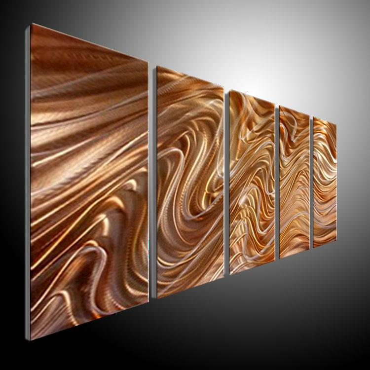 Metal Wall Art Abstract Contemporary Sculpture Home Decor Modern