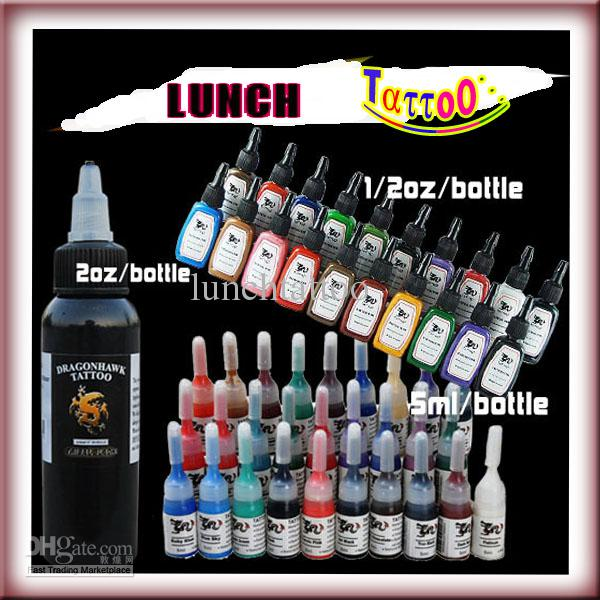 20 Colorful 15ml 1/2oz 28 Color 5ml Single 1 Bottle 60ml 2 oz Tribal Black Tattoo Ink Pigment Kit S