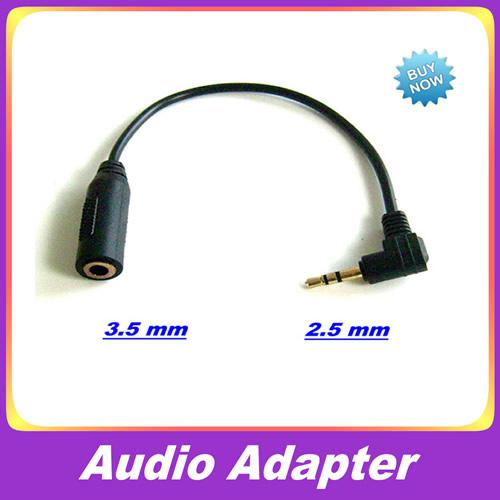 2.5mm macho a 3.5mm hembra de cable de audio adaptador adaptador de conector para el auricular del auricular del jugador MP3 10pcs / lot
