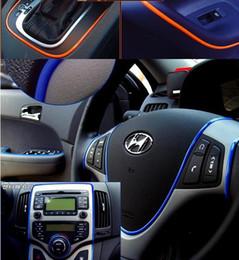 Wholesale Dodge Door Sill - 3MM color Auto Car Interior DIY Decoration Moulding Trim Strip line 300M lot