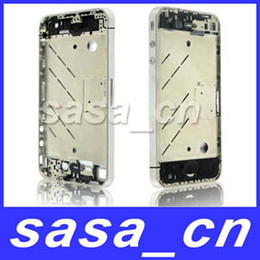 Wholesale Iphone4 Apple Original - For iPhone 4 4G Original Silver Bezel Frame Middle Chassis Mid Frame Board Housing For iPhone4 4th
