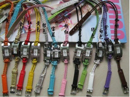 Wholesale Knitting Leather Cord - Free shipping~13 colors Hand-knitted leather cord watchband ,woven women watch,quartz watch,braided