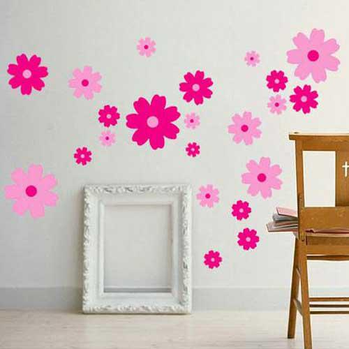 Tc1027 Flower Wall Decal Sticker Girl Room Nursery Wall Decor Kids Wall Art Stickers  Decals 33x60cm Personalised Wall Stickers Personalized Wall Decals From ... Part 6