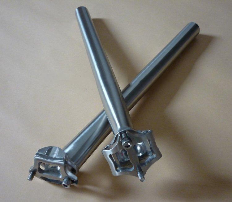 Titanio 3Al / 2.5V Reggisella bicicletta Reggisella bici Post CNC lavorato 27,2mm * Lunghezza su misura Superficie lucida / opaca Ad alta resistenza Leggero