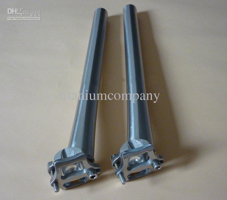 Titan3l / 2.5V Fahrrad Sattelstütze Fahrrad Sattelstütze CNC bearbeitet 27.2mm * Kundenspezifische Länge glänzend / Matte Oberfläche hochfestes leichtes Gewicht