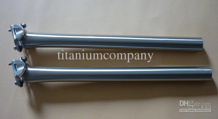 티타늄 3Al / 2.5V 자전거 시트 포스트 자전거 좌석 포스트 CNC 가공 27.2mm * 사용자 정의 길이 광택 / 무광택 표면 고강도 경량