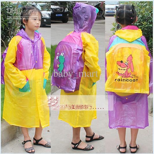 2018 Children Rain Cape School Bag Rain Coat Coats Poncho