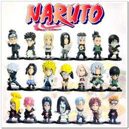 Wholesale Japanese Naruto Toys - New Japanese Anime Naruto Action Figures Toy 21pcs 5cm L321