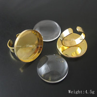 Wholesale Brass Ring Blank - Beadsnice brass ring bases perfect for cabochons ring base blank findings with 25mm round pad cameo setting ID 3427