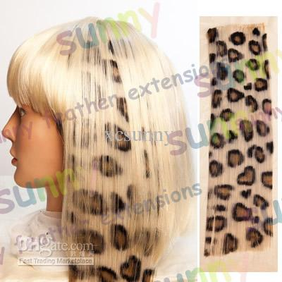 2018 16 animal leopard print synthetic hair extension clip in 16 animal leopard print synthetic hair extension clip in feather extensions 100pcslot tpe010 pmusecretfo Choice Image