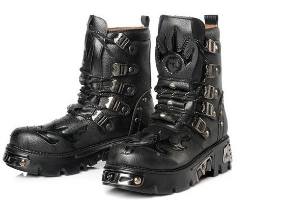 Casual Men's Shoes Motorcycle Boots Shoes Ankle Boots Winter Boots ...