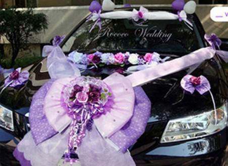 New Romantic Wedding Car Exterior Decorate Decorations On The