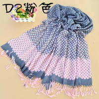 Wholesale Women S Head Scarves - Fashion Dot Cashmere scarf Soft Scarves shawl 200x70cm Big scarf Women`s scarves can MIX order
