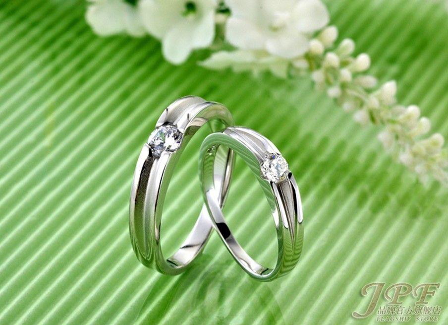 2018 Fashion 925 Silver Swiss Diamond Ring Wedding Rings Couple