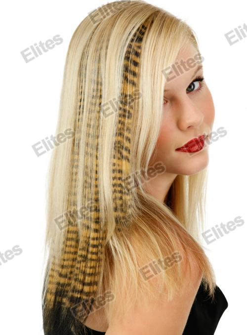 2018 16 Animal Print Synthetic Feather Hair Extension Leopard