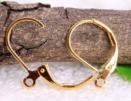Wholesale Earring Findings Charms - DIY Charm Plating Gold Earrings Clasps,Clips Earrings Hooks,Jewelry Finding 1000pcs lot