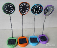 Wholesale Cap Solar Energy - Wholesale - Nice!Round Lamp cap 8 LED Solar Energy Reading Lamp & table Lamp,Solar panel Power Lamp