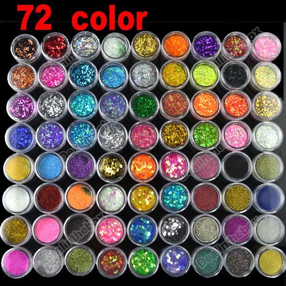 New Hot Selling Nail Art 72 Pots 6 Kinds Of Glitter Decoration