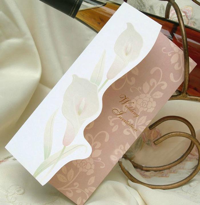 Elegant Wedding Invitation Cards Design: Classic Elegant Romantic Wedding Invitation Card,Wedding