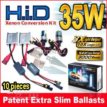 12V 35W Balastos de plata HID Xenon Kits de conversión 2 bombillas + 2 Digital Single Single Beam