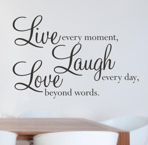 Nice Live Laugh Love Wall Quote Decal Decor Sticker Lettering Saying Vinyl Wall  Art Stickers Decals Stickers On The Wall Stickers On The Wall Decoration  From ...