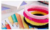 Wholesale Hair Curler Bow - Children's curlers bows baby Hair clip hair barrettes girl korker 80s elastic hair bands
