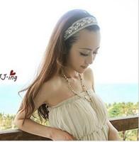 bagues en plastique pour filles en gros achat en gros de-Nouvelle arrivee . La perle de mode délicate a contracté la bande de cheveux. 12pcs / lot. Livraison gratuite