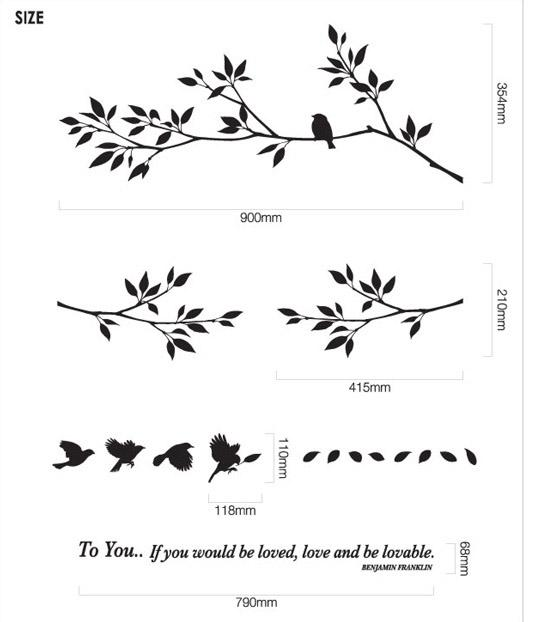 Charming Tree With Birds Decorative Wall Sticker Art Wall Sticker 001 Decal Art For Walls  Decal Decor From Noveltygoods, $15.04  Dhgate.Com Part 27