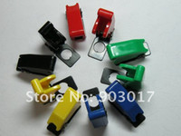 Wholesale Red Toggle Switch - Safety Flip Cover for Toggle Switch Opacity Multicolor (red ,yellow,green,blue,black) 10 pcs