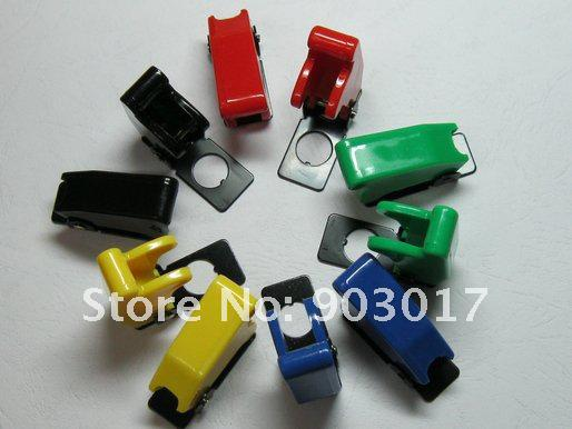 top popular Safety Flip Cover for Toggle Switch Opacity Multicolor (red ,yellow,green,blue,black) 10 pcs 2021