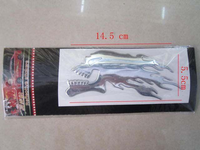 20 UNIDS / LOTE Modificado Motocicleta calcomanías Pegatinas 3D llama pegatina kit Cráneo calcomanías Cool Car decals