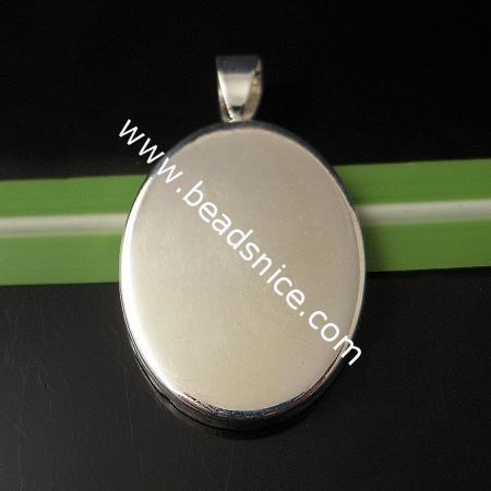Messing Cabochon Anhänger Einstellung, Basis Durchmesser: 18x25mm, Bohrung: ca. 6x3mm, Blei sicher, Nickelfrei, ID8944